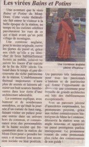 article La Montagne virée Bains et Potins au Mont-Dore